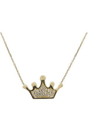 Christian Gouden zirkonia kroon hanger