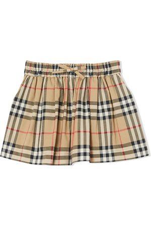 Burberry Check-print gathered shorts