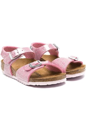 Birkenstock Glitter-detailed buckle sandals