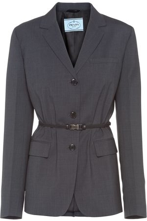 Prada Belted blazer jacket