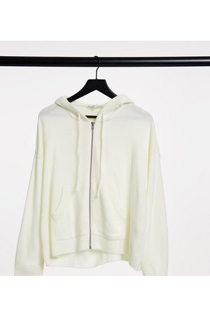Native Youth Extreme oversized knitted hoodie in cream