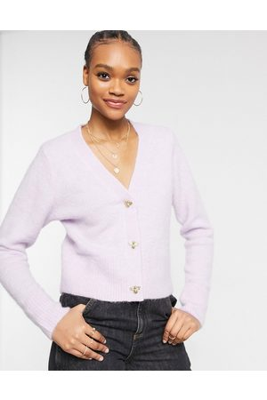 & Other Stories Bee button cardigan in lilac-Purple