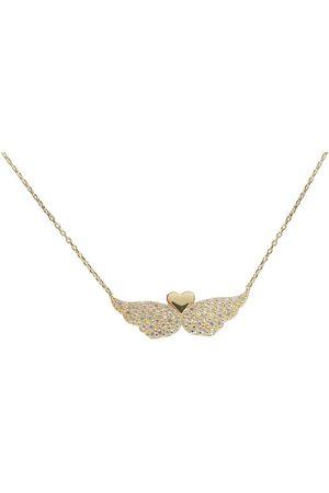 Christian Gouden hart met zirkonia vleugels hanger