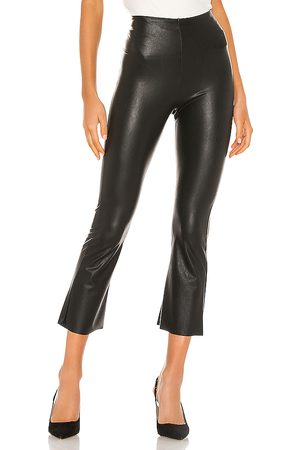 Commando Faux Leather Cropped Flare Pant in
