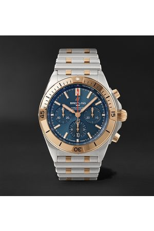 Breitling Heren Horloges - Chronomat B01 Automatic Chronograph 42mm Stainless Steel and 18-Karat Red Gold Watch, Ref. No. UB0134101C1U1