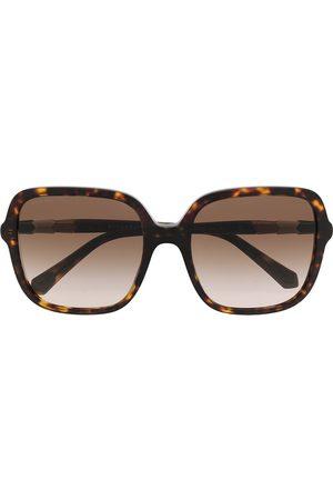Bvlgari Dames Zonnebrillen - Tortoiseshell oversize sunglasses