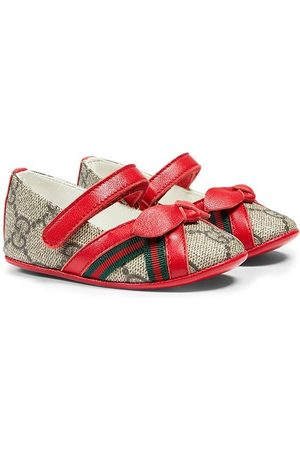 Gucci GG Supreme bow-detail ballerina shoes