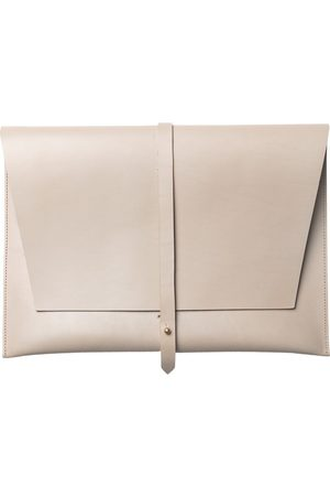 "Stolbjerg Copenhagen Computersleeve 13 ""Taupe colored leather with brass details"