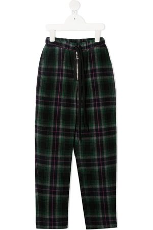 DUOltd Check print trousers