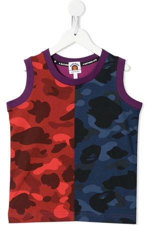 A BATHING APE® Colour Camo printed tank top