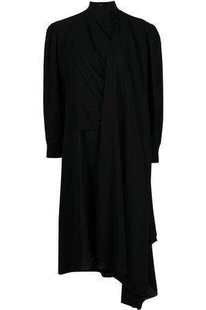 JUUN.J Draped long-sleeved midi dress