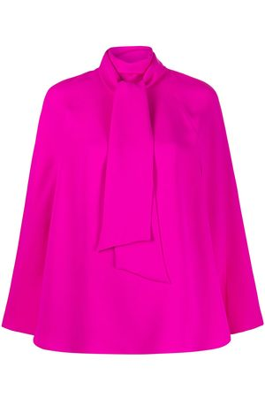 VALENTINO Cady couture cape top