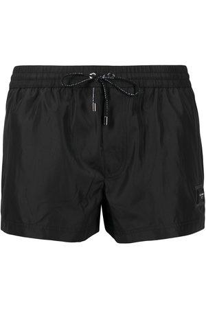 Dolce & Gabbana Heren Shorts - Logo-patch swim shorts