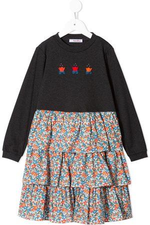 Familiar Floral print ruffled dress