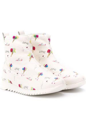 "Giuseppe Zanotti ""Love"" printed boots"