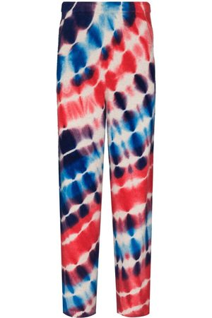 THE ELDER STATESMAN Tie-dye print track pants