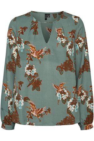 Vero Moda Dames Printed Long Sleeved Top Dames Green