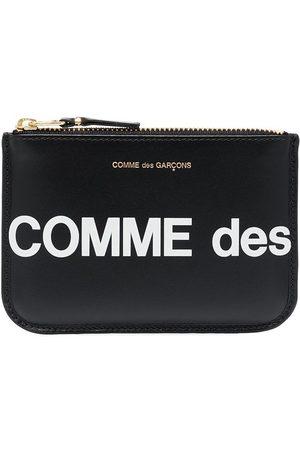 Comme des Garçons Portemonnees - Logo print zipped pouch