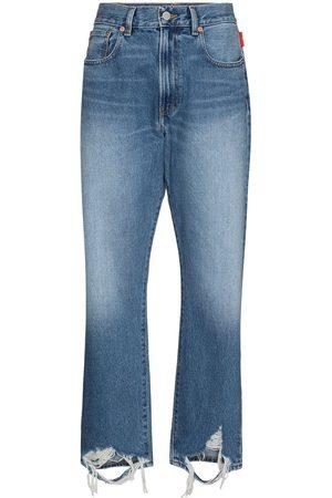 Denimist Distressed hem boyfriend jeans