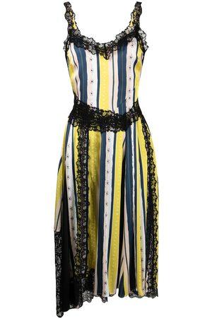KOCHÉ Striped lace panel dress