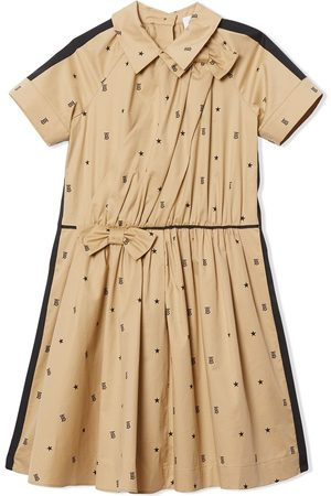 Burberry Star and monogram print flared dress