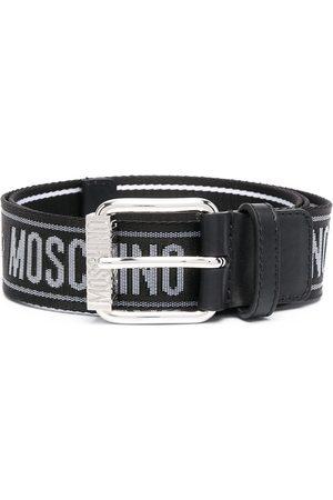 Moschino Heren Riemen - Logo-print belt