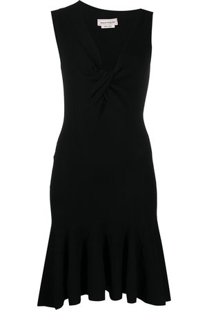 Alexander McQueen Asymmetric neck knitted dress