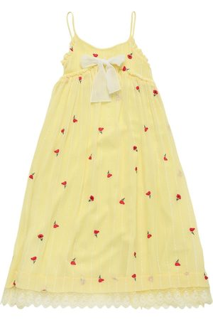 Chloé Embroidered Silk Long Dress