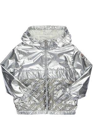 Moncler Abbey Hooded Metallic Nylon Jacket