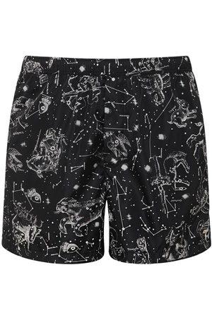 VALENTINO Zodiac Map Print Nylon Swim Shorts