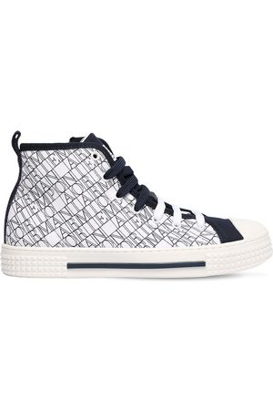 Emporio Armani All Over Logo High Sneakers