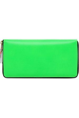 Comme des Garçons Super Fluo Leather Zip Around Wallet