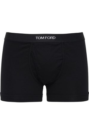 Tom Ford Pack Of 2 Logo Cotton Boxer Briefs