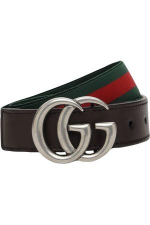 GUCCI Elastic Belt W/ Web Details