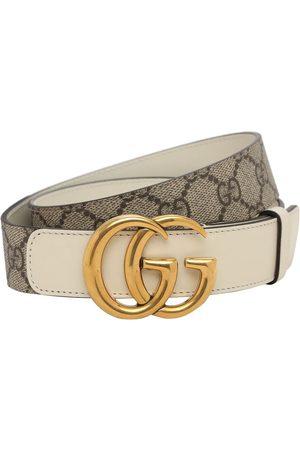 Gucci 3cm Gg Marmont Supreme Belt