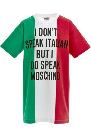 Moschino Printed Logo Sweat Dress