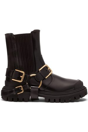 Dolce & Gabbana Buckle-detail chunky sole boots