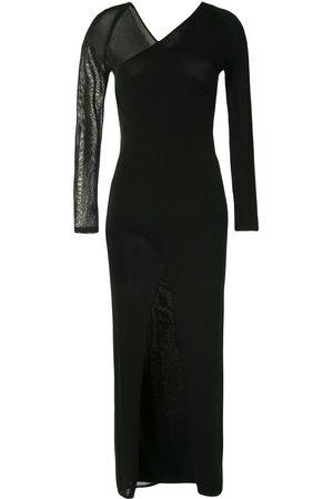 DION LEE Asymmetric long-sleeve dress