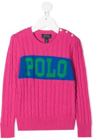 Ralph Lauren Logo cable-knit jumper