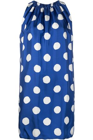 Moschino Polka dot silk shift dress