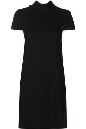 Victoria Victoria Beckham Mock-neck cap-sleeves dress