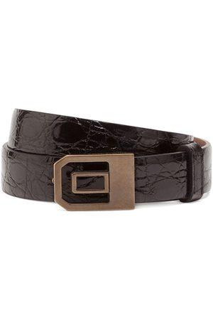 Dolce & Gabbana Crinkle-look buckled belt