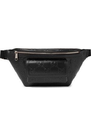 Gucci Heren Riemen - Logo-Embossed Perforated Leather Belt Bag