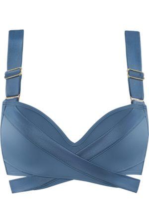 Marlies Dekkers Cache coeur push up bikini top | wired padded air force blue - 70D