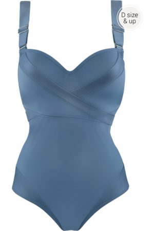 Marlies Dekkers Cache coeur plunge balconette badpak | wired padded air force blue - 70D