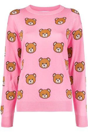Moschino Teddy-pattern intarsia-knit jumper