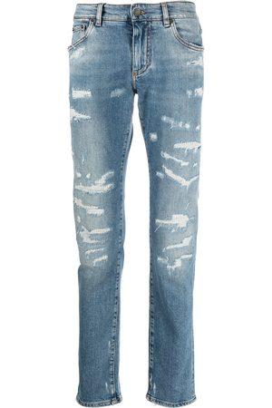 Dolce & Gabbana Ripped straight-leg jeans