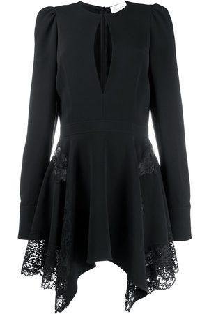 Stella McCartney Asymmetric floral lace mini dress