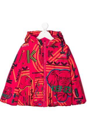 Kenzo Logo print hooded jacket