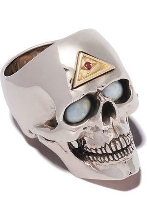 The Great Frog Evil-eye skull ring